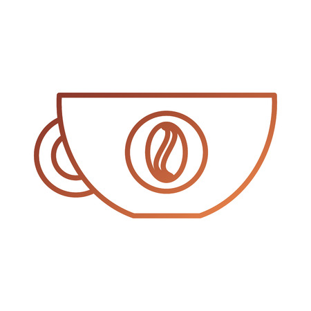 koffiekopje drank vers aroma symbool vector illustratie