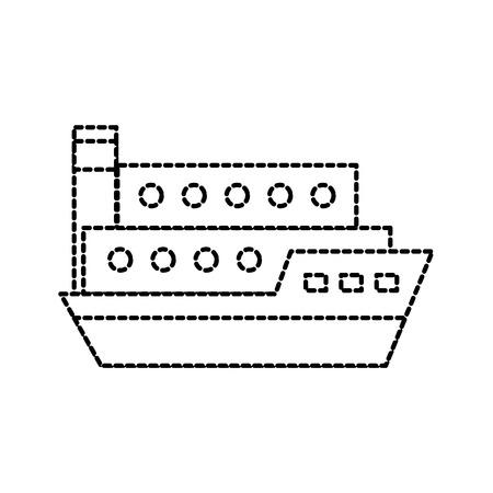Transport maritime transport de fret de fret maritime Banque d'images - 87736737