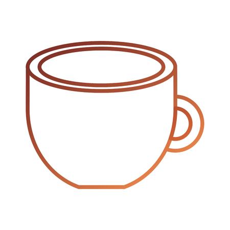 커피 컵 음료 신선한 아로마 기호 벡터 일러스트 레이션