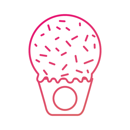 ice cream in paper cup snack sweet vector illustration Zdjęcie Seryjne - 87736741