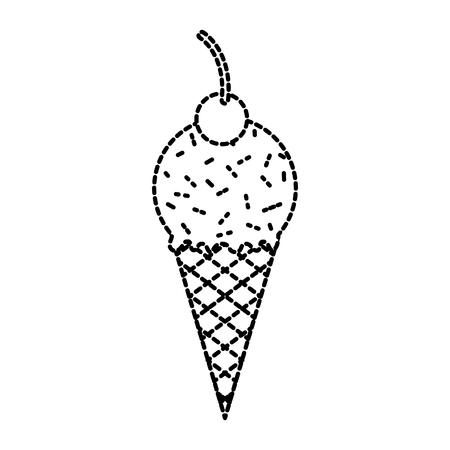 ijscoupe ijscoupe dessert heerlijke koude vectorillustratie