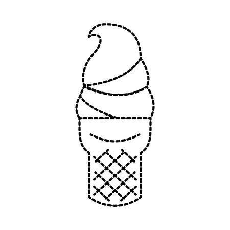 ijs in wafel kegel verse room vectorillustratie Stock Illustratie