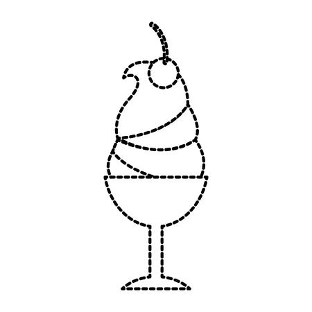 Gelato saporito in vetro illustrazione vettoriale delizioso Archivio Fotografico - 87736765