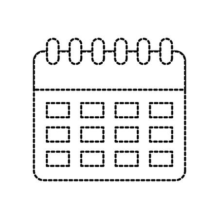 物流配送カレンダー企画オーガナイザー ベクトル イラストレーション  イラスト・ベクター素材
