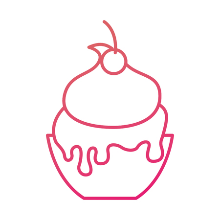 ice cream in paper cup snack sweet vector illustration Illustration