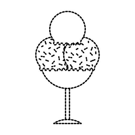 smakelijk roomijs in de heerlijke vectorillustratie van het glasdessert