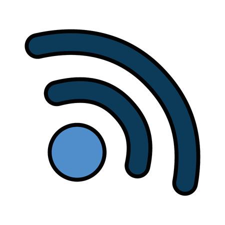 와이파이 신호 아이콘 벡터 일러스트 디자인 격리 스톡 콘텐츠 - 87736910