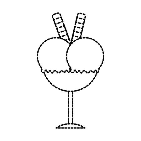 tasty ice cream in glass dessert delicious vector illustration Stock Vector - 87736916
