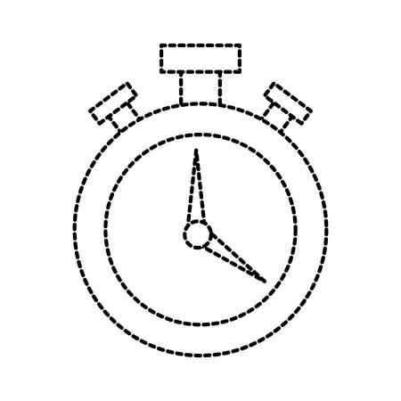 logistic delivery chronometer timer hour plan vector illustration