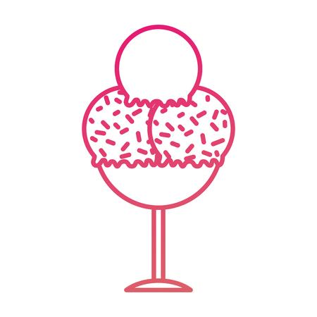 ガラス デザートおいしいベクトル図でおいしいアイスクリーム