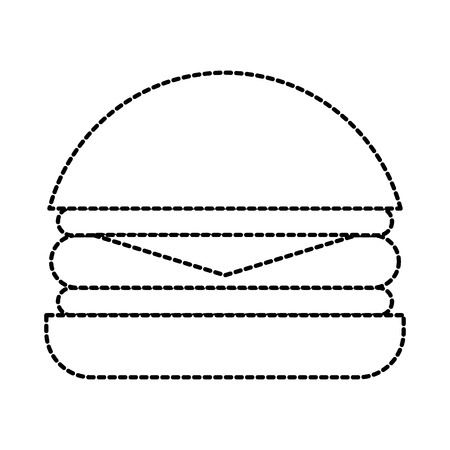 Fast food hamburger gustoso deliziosa illustrazione vettoriale pranzo pranzo Archivio Fotografico - 87737021