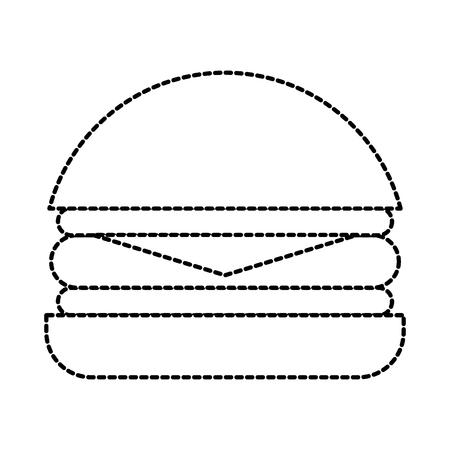 Leckere leckere Imbiss-Mittagessen-Vektorillustration des Schnellimbisses des Burgers Standard-Bild - 87737021
