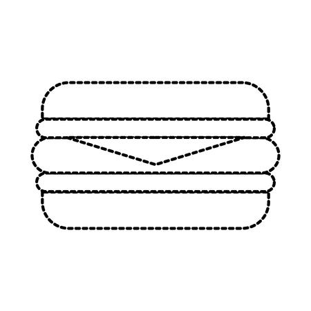 fast food sandwich menu restaurant lunch vector illustration Illustration