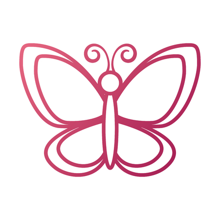 Ilustración de vector de fauna animal lindo jardín mariposa insecto Foto de archivo - 87737081