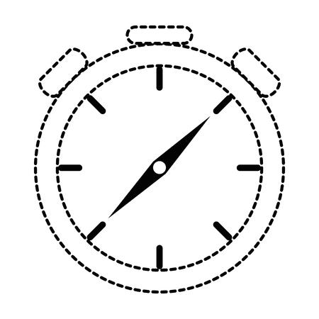 Cronometro cronometro isolato icona illustrazione vettoriale di progettazione Archivio Fotografico - 87737086