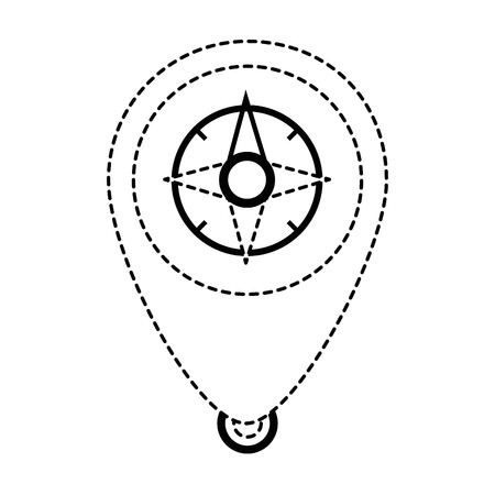 pointer location with compass vector illustration design