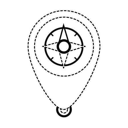 pointer location with compass vector illustration design 版權商用圖片 - 87737093