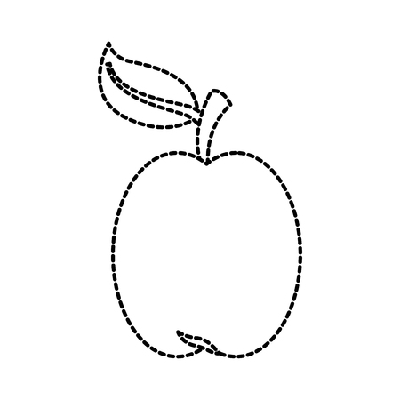 apple fresh fruit vitamin nutrition vector illustration Illustration