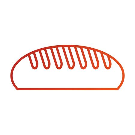 delicious bread bakery food breakfast vector illustration Illustration