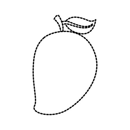 tropical mango fresh fruit vitamin nutrition vector illustration Illustration
