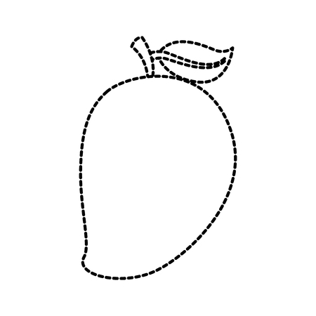tropical mango fresh fruit vitamin nutrition vector illustration Ilustração