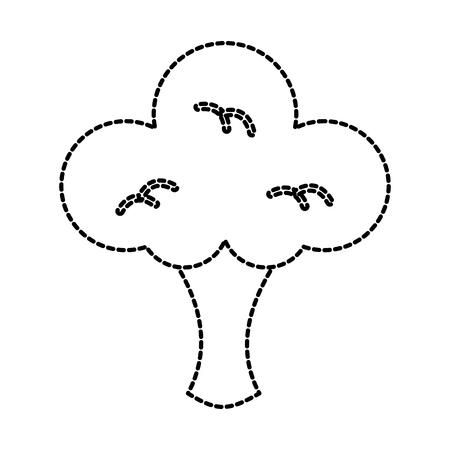 vegetable broccoli healthy nutrition organic vector illustration Ilustração