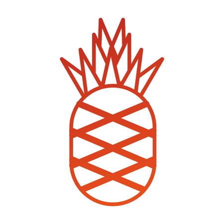 pineapple tropical fresh fruit vitamin nutrition vector illustration Illusztráció