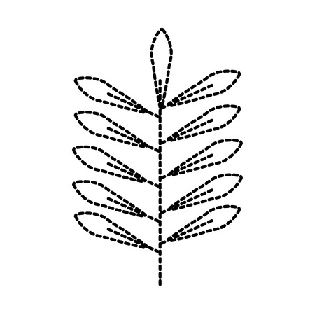 branch leaves natural foliage flora icon vector illustration Ilustrace