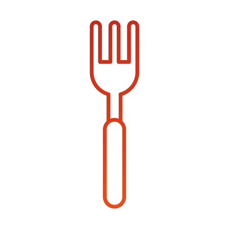 fork cutlery silverware kitchen restaurant vector illustration Illustration