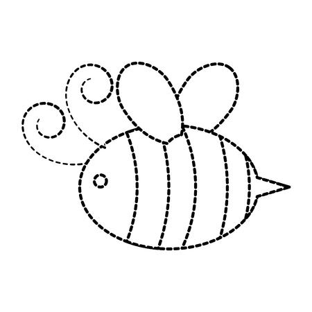 飛行昆虫の動物のベクトル イラストかわいい蜂蜂蜜