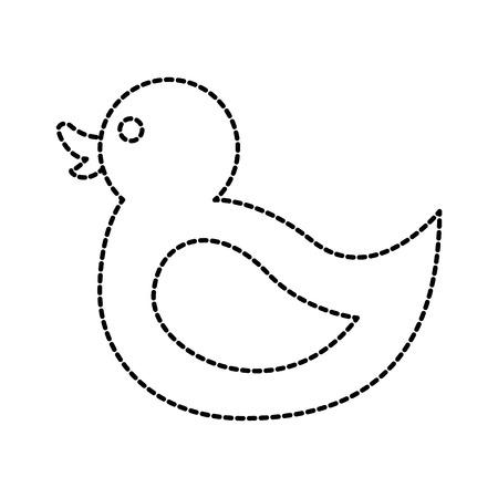 赤ちゃんゲーム ベクトル図のゴム製アヒルお風呂のおもちゃ