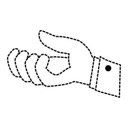 손 수신 격리 된 아이콘 벡터 일러스트 디자인