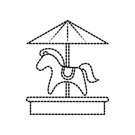 carousel horse toy recreation carnival park vector illustration Stock Vector - 87737211