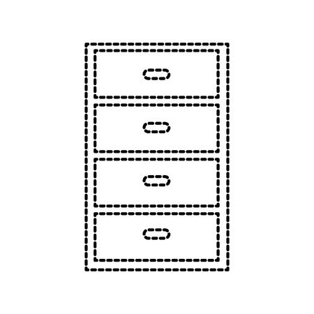 cabinet drawers cloths kid wooden furniture vector illustration Illustration