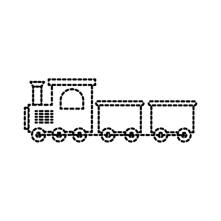 Set of two trains, Passenger and cargo. Icon of a childrens toy. flat vector illustration isolate on a white background