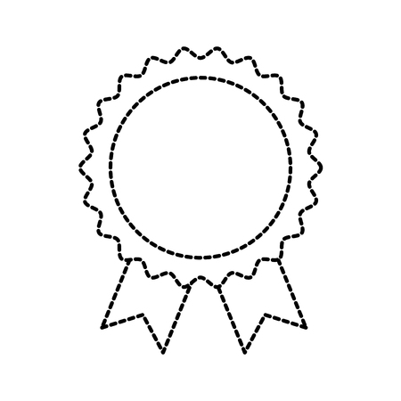 award rosette with ribbon toy decoration vector illustration