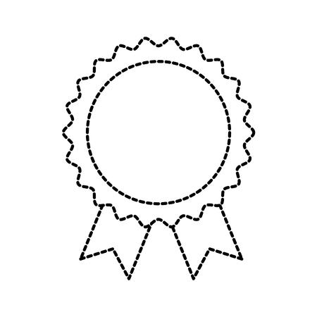 Toekenning rozet met lint speelgoed decoratie vector illustratie Stockfoto - 87737227