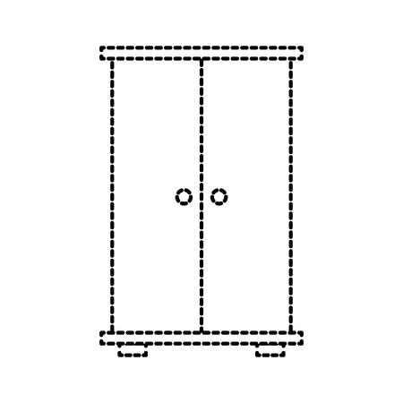 kledingkast houten meubel deuren voor kleding vector illustratie