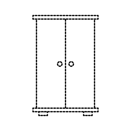 wardrobe wood furniture doors for clothes vector illustration Illustration