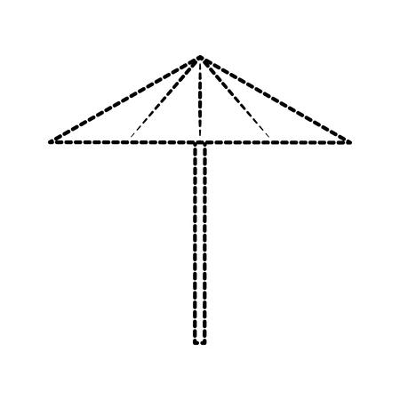 beach umbrella vacation protection tool vector illustration