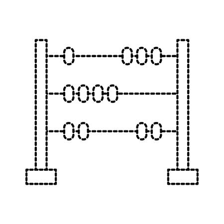 speelgoed hout abacus met basis en bollen vectorillustratie