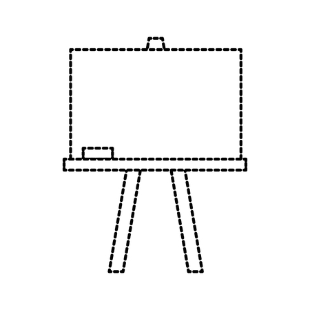 chalkboard tripod study learning blank icon vector illustration