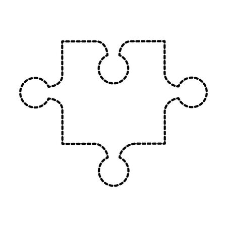 Jouet une pièce puzzle jigsaw stratégie jeu vector illustration Banque d'images - 87737275