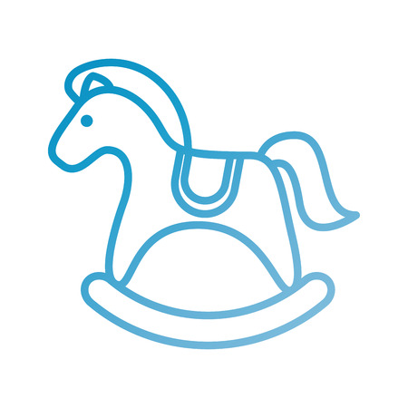 wooden toy horse animal traditional object vector illustration Illustration
