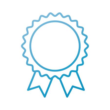 toekenning rozet met lint speelgoed decoratie vector illustratie