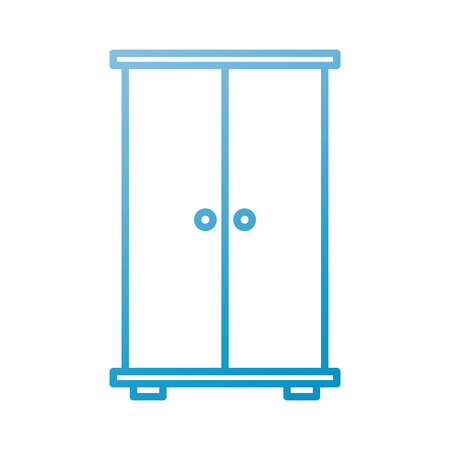 wardrobe wood furniture doors for clothes vector illustration Ilustração