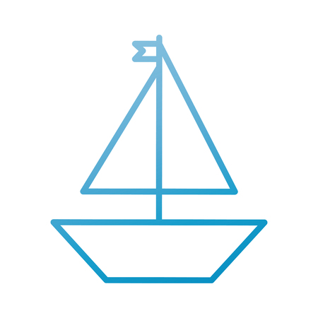 Boat toy on white background - vector illustration.