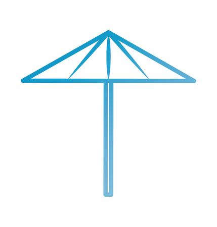 ビーチ傘休暇保護ツール ベクトル図