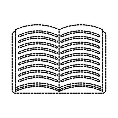 학교 오픈 책 문학 읽기 벡터 일러스트 레이션 일러스트