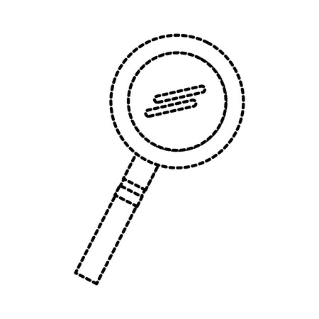 school magnifier glass research science study vector illustration